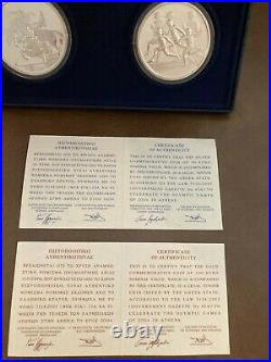Gold Coin and 1oz Silver Coins 2004 Olympic Games Commemorative Set. 999 Pure