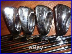 Golden Ram Tour Grind FLC Forged 1-PW Iron Set RH 6.5 Stiff Rifle Shafts Perfect