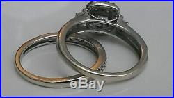 H Samuel 9 CT White Gold 0.66 Ct Diamond Ring Perfect Fit Bridal Set P. 5. 6.1g