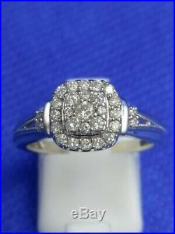 H Samuel 9 CT White Gold 0.66 Ct Diamond Ring Perfect Fit Bridal Set Q. 6.1g