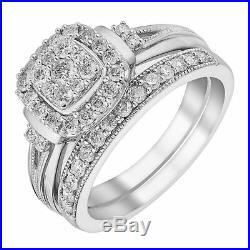 H Samuel 9 CT White Gold 1.25 Ct Diamond Ring Perfect Fit Bridal Set K. 5. 6.1g