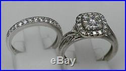 H Samuel 9 carat White Gold 0.66 Ct Diamond Ring Perfect Fit Bridal Set K 5.1g
