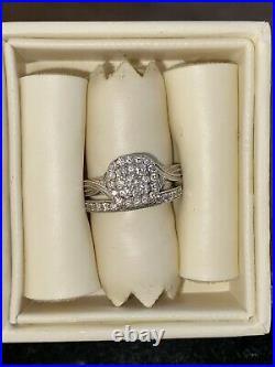 H Samuel 9 carat White Gold 2/3 Ct Diamond Perfect Fit Bridal Set