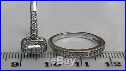 H Samuel 9ct White Gold 0.50 Carat Diamond Ring Perfect Fit Bridal Set L. 5 5.1g