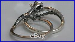 H Samuel 9ct White Gold 0.50 Carat Diamond Ring Perfect Fit Bridal Set P 5.5g