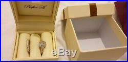 H Samuel 9ct White Gold 0.50 Ct Diamond Ring Perfect Fit Bridal Set O. 5