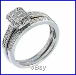 H Samuel 9ct White Gold 0.50 Ct Diamond Ring Perfect Fit Bridal Set Sz I. 5 4.6g