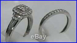 H Samuel 9ct White Gold 0.66 Ct Diamond Ring Perfect Fit Bridal Set O. 5. 5.8g