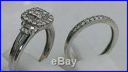 H Samuel 9ct White Gold 0.66 Ct Diamond Ring Perfect Fit Bridal Set O. 5. 5.8g