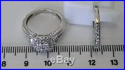 H Samuel 9ct White Gold 0.66 Ct Diamond Ring Perfect Fit Bridal Set Sz J. 5.4g