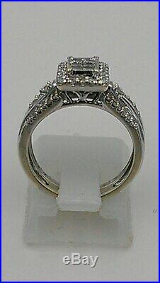H Samuel 9ct White Gold 0.66 Ct Diamond Ring Perfect Fit Bridal Set Sz K 4.6g