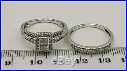 H Samuel 9ct White Gold 0.66 Ct Diamond Ring Perfect Fit Bridal Set Sz R 5.0g