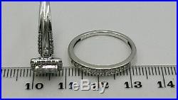 H Samuel 9ct White Gold 0.66 Ct Diamond Ring Perfect Fit Bridal Set Sz R 5.0g