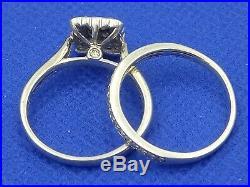 H Samuel 9ct White Gold 0.75 Carat Diamond Ring Perfect Fit Bridal Set Sz Q 5g