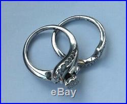 H Samuel Perfect Fit 9ct Gold Half Carat Diamond Bridal Set Size K