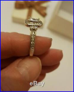 H Samuels Perfect Fit 3/4ct White Gold Bridal ring set Size K
