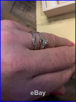 H samuel 9ct white gold 1/3ct Diamond Perfect Fit Bridal Set