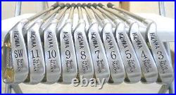 HONMA TWIN MARKS 2000-a R-FLEX PERFECT 10PC K18 GOLD 2-STAR IRONS SET