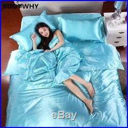 HOT! 100% pure satin silk bedding set, Home Textile King size bed set, bedclothes