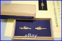 (HS-79) Very High Grade Pure Gold MENUKI set Edo with New NBTHK Judgment paper