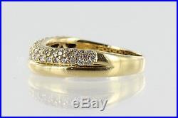 Hallmarked 18ct Gold, 3 row Diamond set Band Ring, Perfect Wedding band