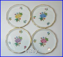 Herend VICTORIA Coaster Set of 4 LVF #341 PERFECT Peony Butterflies Purple Blue