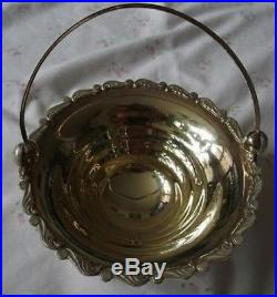 Imperial Russian Pure Silver Sterling with gold plated Handle Basket Bowl set 2