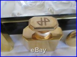 Jean Patou Joy Pure Perfume gift set GOLD PROTOTYPE Bottles Rare! 1 oz. Parfum