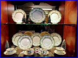 John Maddox and Sons China Set Green and Gold China Holiday Perfect