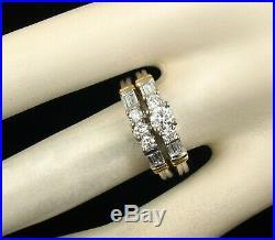 Kenneth David Pure Love Natural Diamond 14k & 24k Gold Engagement Ring Band Set