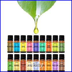 Kit 18 Pack 100% pure most popular Essential Oils Set Therapeutic Grade 10 ml