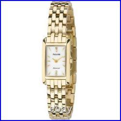 Ladies Accurist LB1592P Pure Precision Diamond Set Gold Plated Watch RRP £179.00