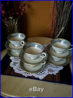Lenox Autumn(1)Set of 6 Footed Cups and Saucers1st QualityPERFECT GOLD STAMP