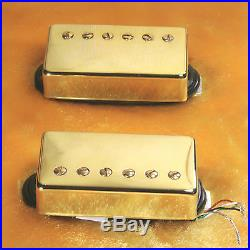 Lindy Fralin Pure P. A. F. Custom 5% OVER Pickups GOLD Covers 4 Cond Leads