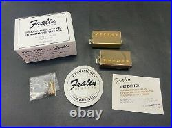 Lindy Fralin Pure P. A. F. Humbucker Pickup Set 7.8/8.4k Gold Covers New