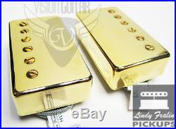 Lindy Fralin Pure P. A. F. Humbucker Pickup Set Gold Covers