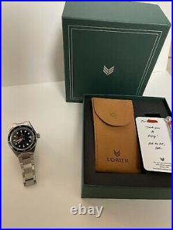 Lorier Neptune SIII Navy / Gilt (Gold) Perfect condition Full set Box and Papers