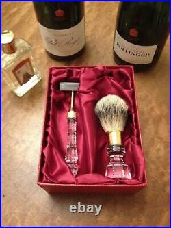 Luxurious Royal Brierley Gold-plated & Crystal Shaving Set The Perfect Gift