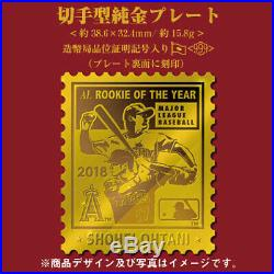 MLB SHOHEI OHTANI Memorial Stamp type Pure Gold PlateOnly 50sets In The World
