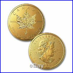 MapleGram8 (8 x 1g) 2018 Maple Leaf Gold Coin set (extremely pure at 999.9/1000)