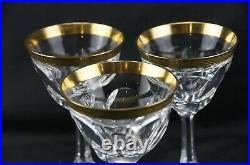 Moser Bohemian Lady Hamilton Gold Encrusted Red Wine Stem Set of 3 Perfect