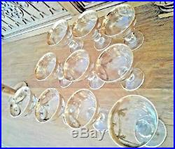 Murano 22k Gold Trim Crystal Cocktail Dessert Glasses Set Of 10 Perfect