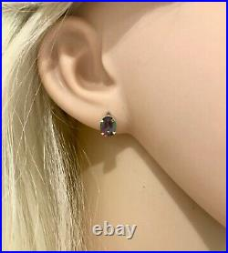Mystic Topaz Pendant & Earring Set. 9ct Pure Gold. 2.15 grams