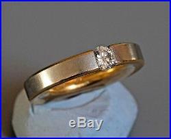 NIESSING PURE GOLD & PLATINUM TENSION SET DIAMOND RING UK SIZE H1/2 10.6 gms