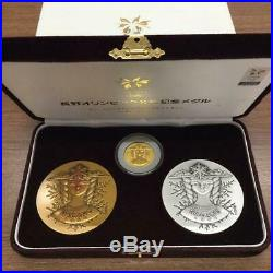 Nagano Olympics Official Medal 1998 Gold Silver Copper 3-Piece Set Pure Sterling