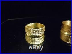 New 2018 USA 24k Pure Solid Gold 999 Bullion Wedding Set Joey Nicks Jewelry #1