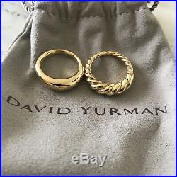 New David Yurman 18K Pure Form Stacking Rings Set Size 6