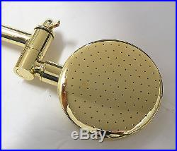 New Pure 24K Yellow GOLD Bathroom Wall Tap Shower Head Set Shower Rose Tapware