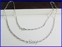 New Pure AU750 18K White Gold Double Set Of Link Chain Necklace /21.6''/4.1g