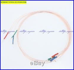 New15set/lot 5N PERFECT CRYSTAL OCC (PCOCC) Tonearm wire 400mm gold 1.2 terminal